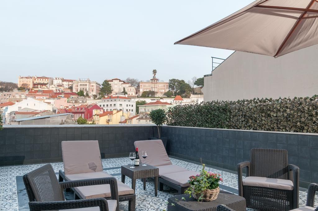 Hotel Romantique Fontecruz Lisbonne terrasse