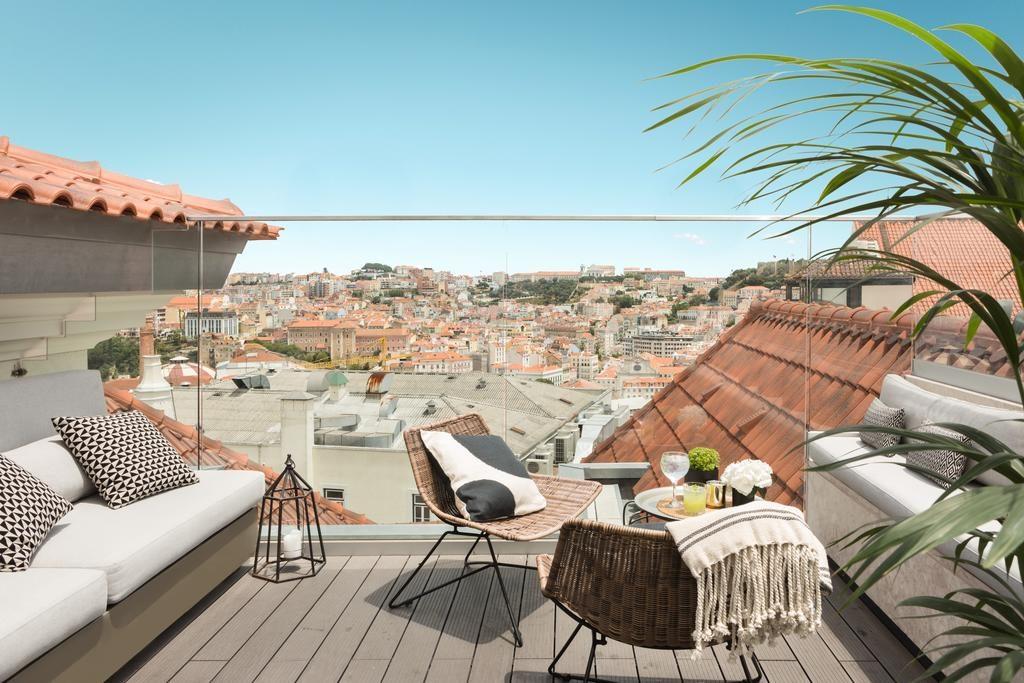 Hotel Romantique Lumiares Lisbonne balcon