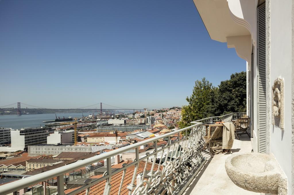 Hotel Verride palacio Santa Catarina Lisbonne balcon