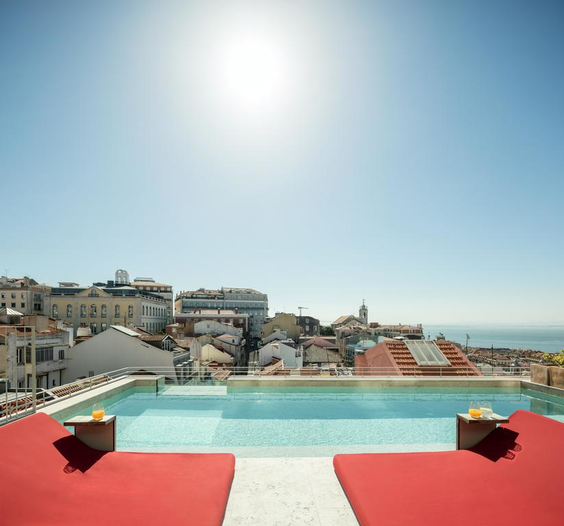 Hotel Verride palacio Santa Catarina Lisbonne piscine