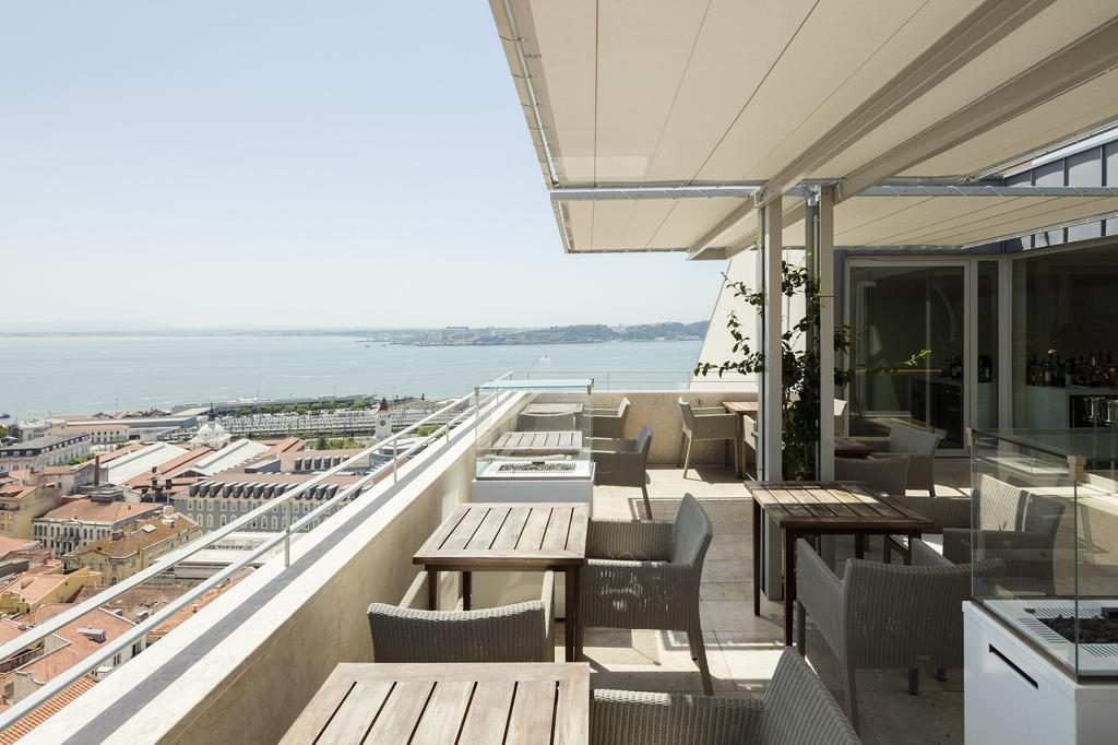 Hotel Verride palacio Santa Catarina Lisbonne terrasse