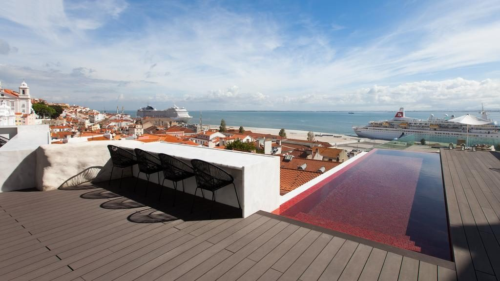 Hotel de charme Memmo Alfama Lisbonne piscine