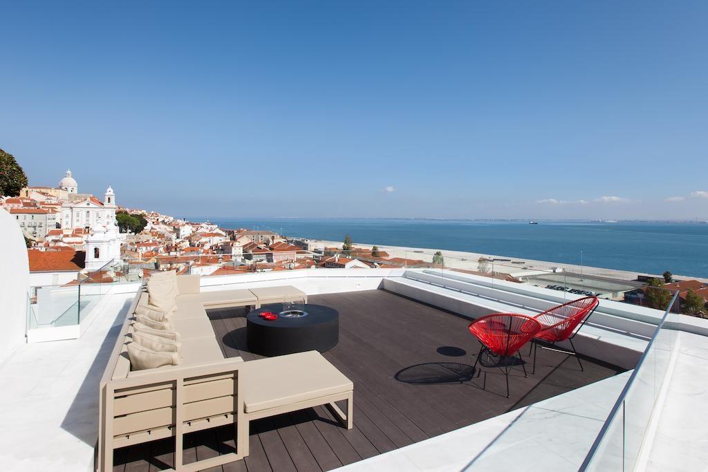 Hotel de charme Memmo Alfama Lisbonne terrasse