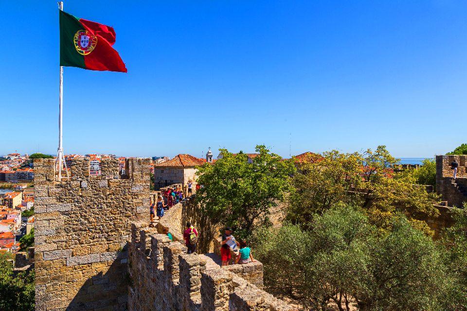 Mura Castello Sao Jorge Lisbona