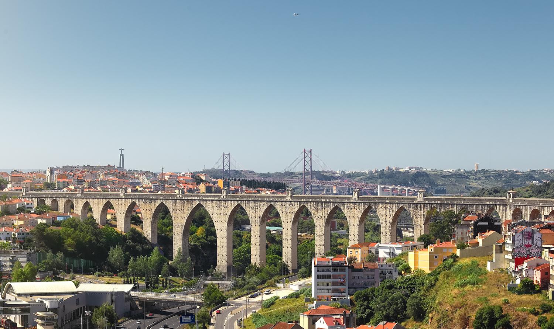 Open water aqueduct Lisbon