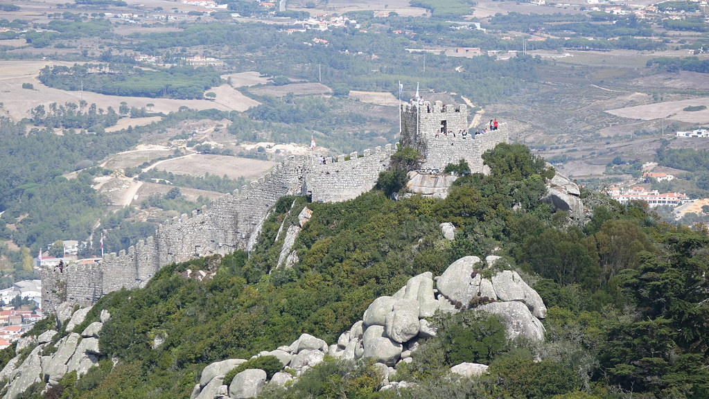 Moorish castle sintra portugal