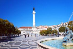 Spalte Pedro IV Lissabon Portugal