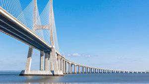 Vasco de Gamma Brücke Lissabon Portugal
